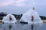 Floating Climbing iceberg